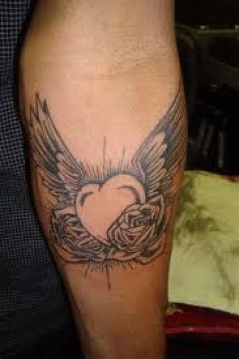 rose with wings tattoo meaning and tattoos and designs and