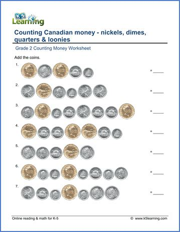 pakistan money worksheets for grade 2 grade 2 money worksheets counting canadian coins k5