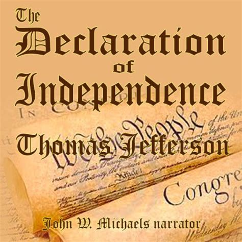 thomas jefferson declaration of independence the declaration of independence audiobook thomas