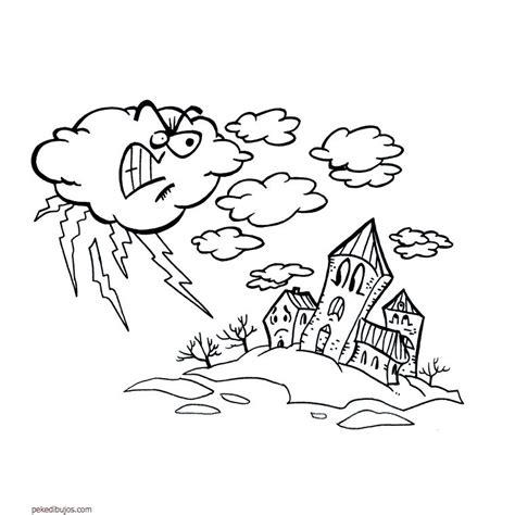 de desastres naturales para colorear dibujos de tormenta para colorear