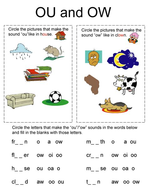 phonics worksheets to remember to teach difference
