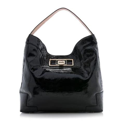 Anya Hindmarch Pecary Leather Hobo by Anya Hindmarch Patent Leather Hobo