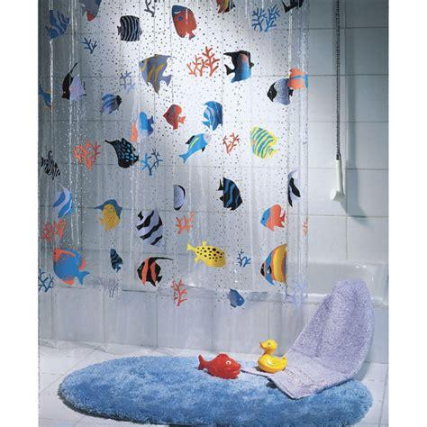 spirella shower curtain spirella fish multicolour shower curtain iwoot