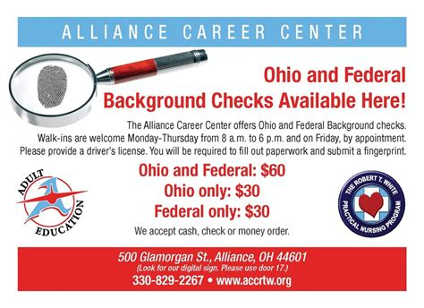 Getting An Fbi Background Check Alliance City Schools
