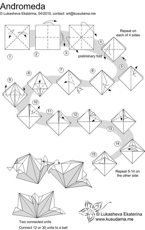 Origami Units - kusudama me modular origami andromeda unit school