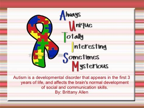 Autism Powerpoint Autism Powerpoint Template Free