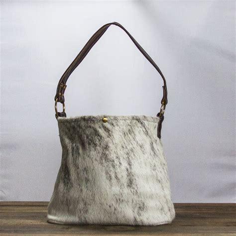 Cowhide Purse cowhide purse gray brindle bug