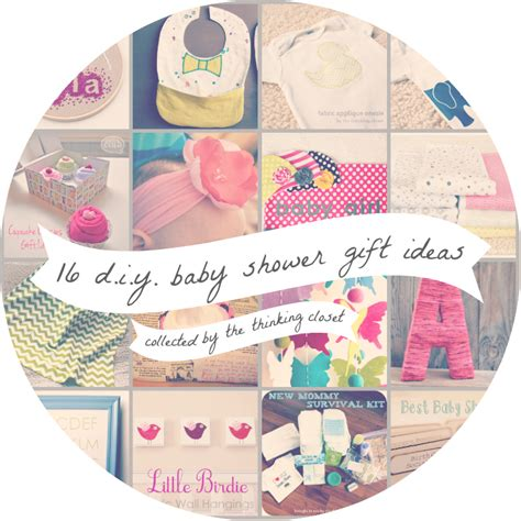 Diy Baby Shower Gifts by 16 Diy Baby Shower Gifts The Thinking Closet