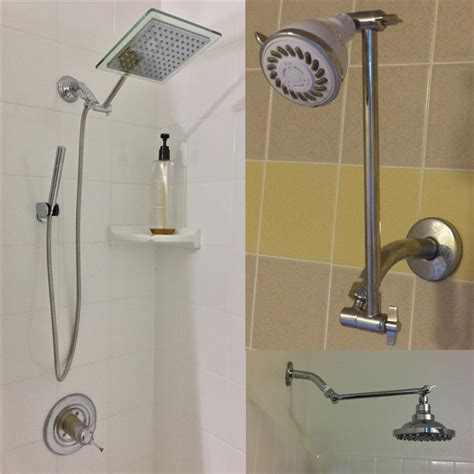 shower extension for bathtub signature 9 inch adjustable height shower head arm shower