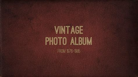 Vintage Photo Album Powerpoint Template By 83munkis Graphicriver Vintage Photo Album Template