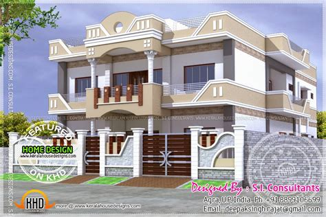 three floor house design india home plan india kerala home design and floor plans