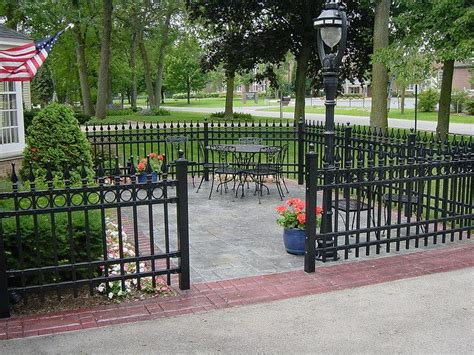 13 Best Ideas About Iron Fence Enclosed Patio Ideas On Patio Fence Designs