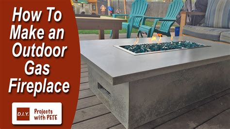 gas fireplace how to how to make an outdoor gas fireplace