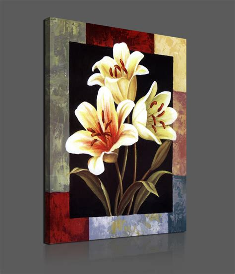 1 pieces modern canvas painting flowers home decoration