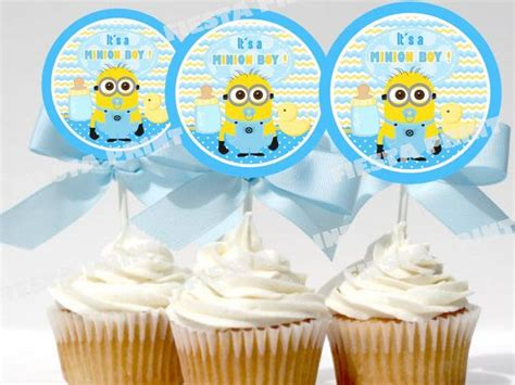 Baby Minion Baby Shower by Baby Minion Cupcake Toppers Baby Shower Printable
