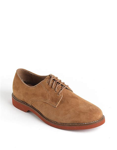 bass shoes oxfords bass buckingham leather oxfords in brown for taupe