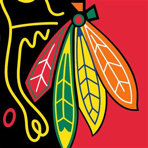 chicago blackhawks colors chicago blackhawks painting by tony rubino