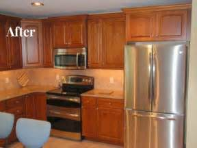 Ideas For Above Kitchen Cabinet Space Retrofitting Kitchen For Over The Range Microwave