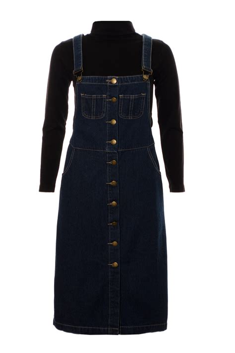Midi Maxi Dress s denim dungaree dress pinafore midi