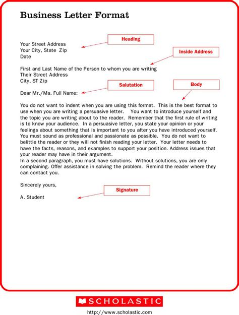Business Letter Form Pdf formal letter templates free premium