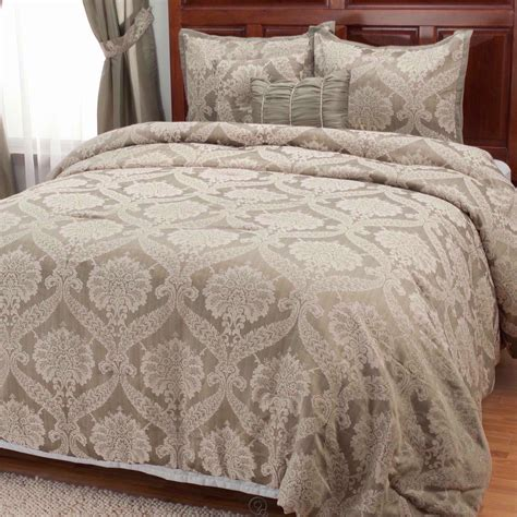 north shore linens quot jillian quot 5 piece bedspread set california king size silver
