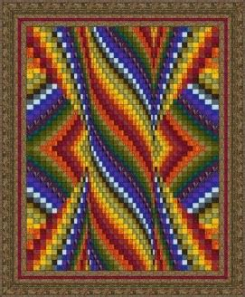 DOUBLE HEART BARGELLO QUILT PATTERN   Quilts & Patterns