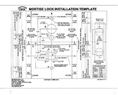 mortise lock template technical data oak security