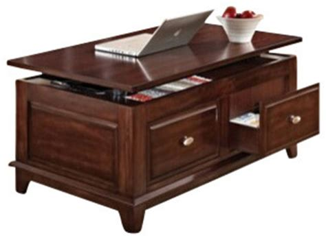 coffee table with storage drawers in walnut finish mahir walnut finish wood lift top coffee table with
