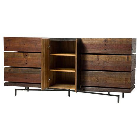 modern reclaimed wood dresser don rustic modern reclaimed wood metal dresser kathy kuo