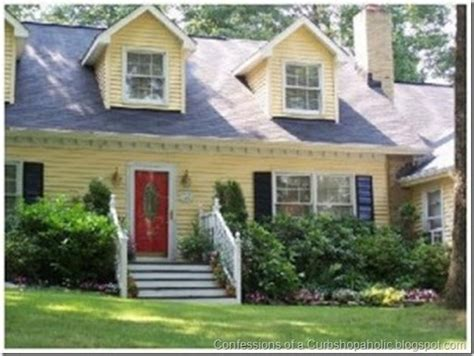 yellow house with red door yellow house red door white trim house ideas pinterest