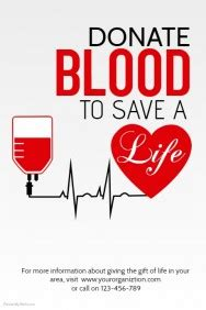 poster design blood donation customizable design templates for blood donation