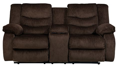Cocoa Reclining Sofa by Garek Cocoa Power Reclining Loveseat With Console