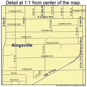 kingsville map 4839352