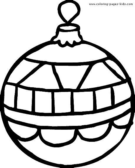christmas ball coloring pages