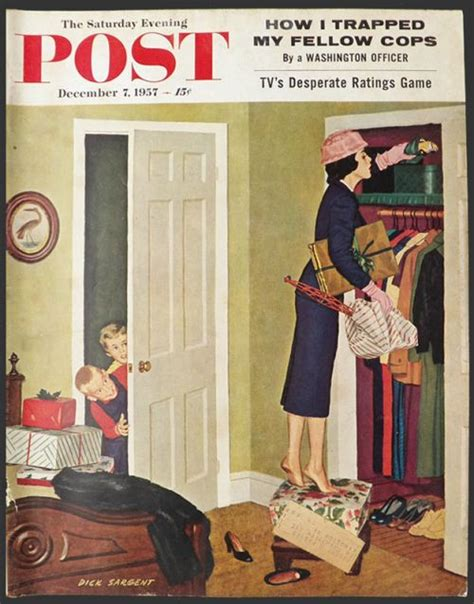 holiday l post covers 1957 saturday evening post cover mom hides christmas