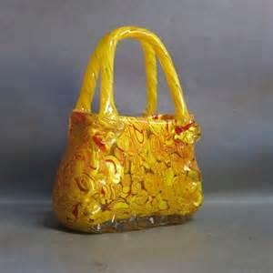 Glass Handbag Vase Glass Handbag Millefiori Murano 1970 1975 No 9035