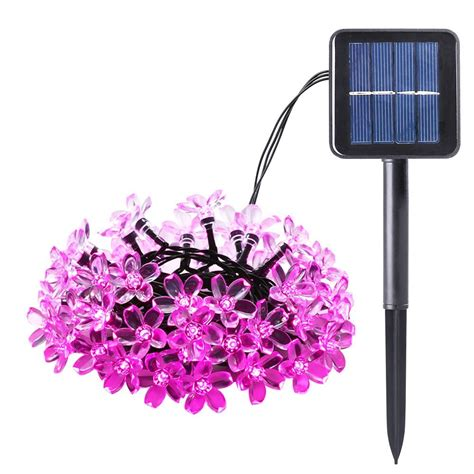 New Blossom Solar Powered Christmas Led Light Outdoor Pink Pink Outdoor Lights