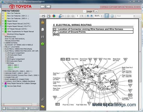 manual repair autos 1995 toyota previa navigation system toyota tarago diagnostic