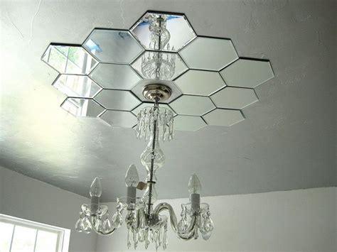 home decor ceiling lights diy mirrored ceiling medallion hometalk