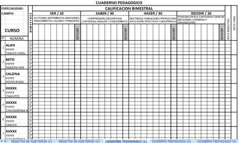 como hacer un registro auxiliar de asistencia en excel registro pedag 243 gico bimestral 2014 recursos para