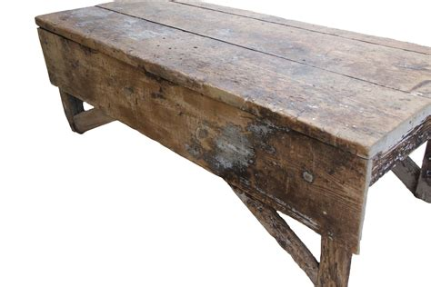 antique bench table antique plank farmhouse coffee table bench omero home