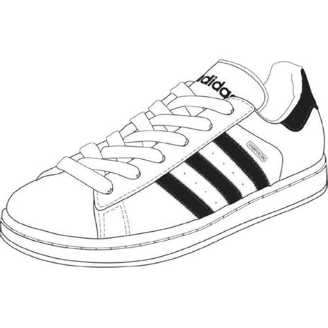 Adidas Shoe Template by Shoe Adidas Shoe Pencil And In Color Shoe