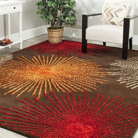 Orange Brown Area Rug by Orange And Brown Area Rug Best Decor Things
