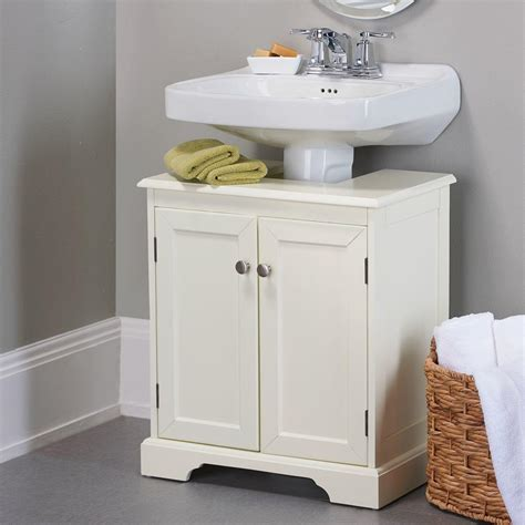 Bathroom Pedestal Sink Storage Cabinet Weatherby Bathroom Pedestal Sink Storage From Improvements