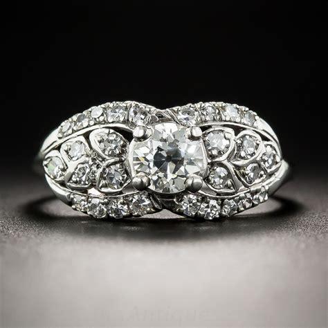 vintage 47 carat and platinum engagement ring