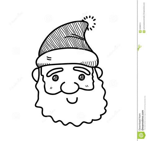 santa on doodle santa claus doodle stock vector image of line design