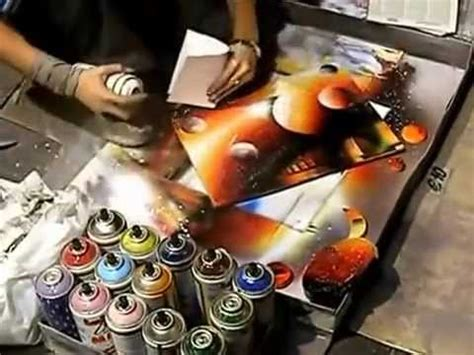 Sprei Arista artista de rua pinta quadro spray de tinta