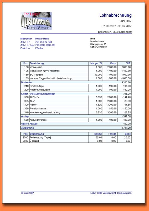 driver salary receipt template india