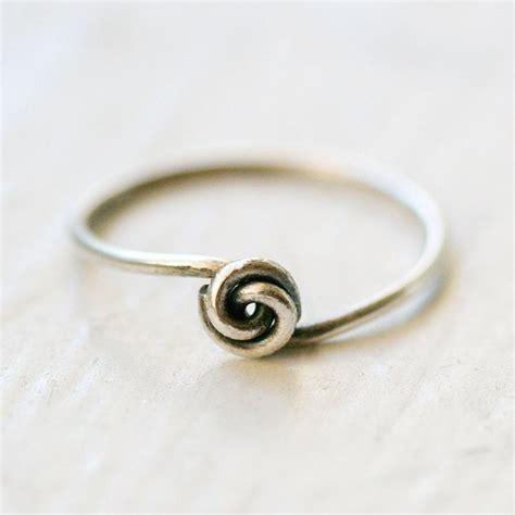 knot ring simple rings and sterling silver on