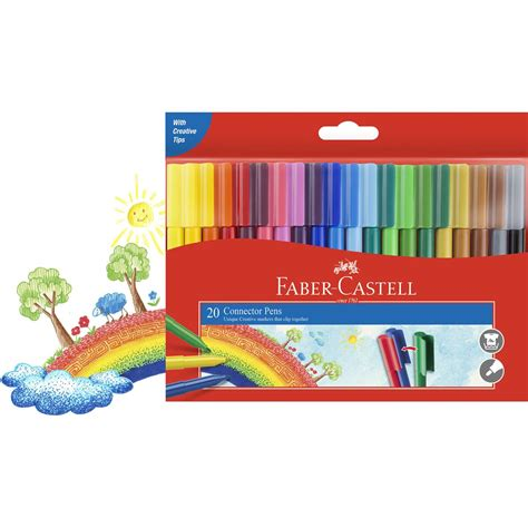 Faber Castell Connector faber castell connector markers 20pk woolworths